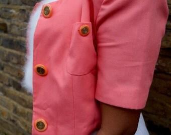 Vintage Cropped Peach Jacket