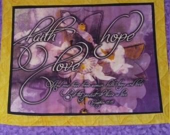 prayer quilt, scripture quilt, handmade quilt, wall hanging