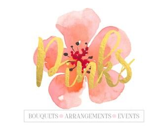 Premade Logo/ Branding/ Floral