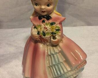 Vintage 1957 Kreiss Porcelain Girl