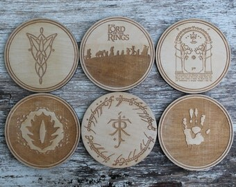 Lord of the Rings Coaster Set - set of 6 coasters