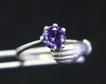 Item ---------------- 925 Silver Ring Of CZ Zircon Teenage Girls.