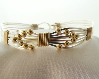 SKU-346 Bow Tie in Sterling Silver with 3mm 14K Gold Filled Beads