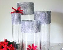 Bling Wedding Centerpieces (Set of 5)- Weddings,Table Centerpieces,Wedding Decor, Tall Wedding Vases, Floral Centerpieces, Wedding Reception