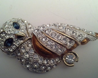 Rhinestone or crystal  owl