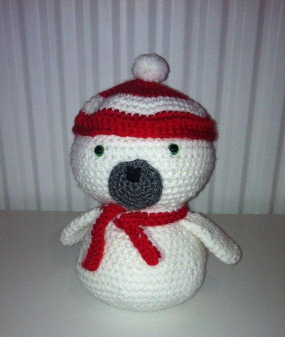 Amigurumi Hat : Crochet Amigurumi White Seal with hat and by AnthonyBrighton