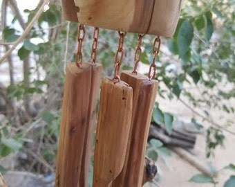 Nature Inspired Art Wood Wind Chimes