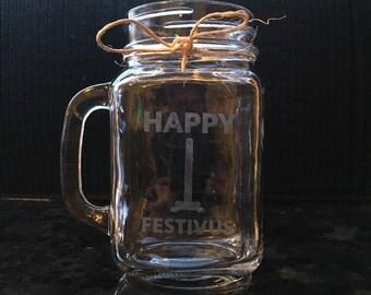 Happy Festivus Mason Jar Mug