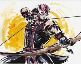 hawkeye marvel hero avenger art