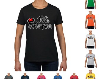 Minnie Big Sister Women's Fashion T-shirt