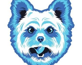 Yorkshire Terrier Die Cut Sticker GD099