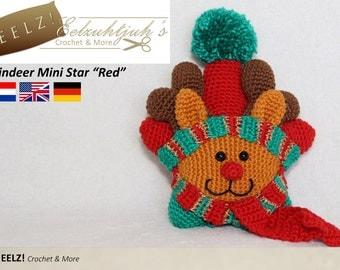 Mini Reindeer Star - Crochet Pattern