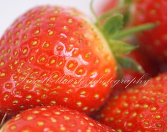 Wall Art, Photography Print, Strawberry, Food Photography