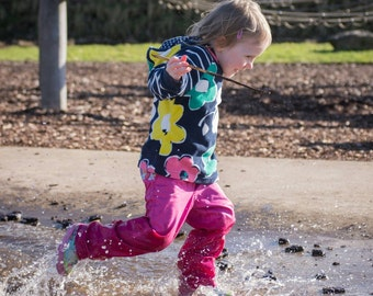 Handmade, Girls Pink Trousers, Colourful, Kids Trousers, Childrens Trousers, Jeans, Chino, Toddler Trousers, Bum Shuffler,Made in Cornwall,