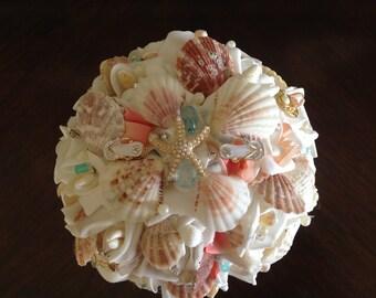 Seashell bouquet, beach wedding bouquet, shell bouquet, beach bouquet