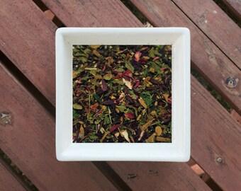 Hibiscus Rose - Organic Tea, Vegan, Herbal Tea, Loose Leaf Tea, Hibiscus, Nettle, Rosehip, Spearmint, Cinnamon, Organic Hibiscus Tea