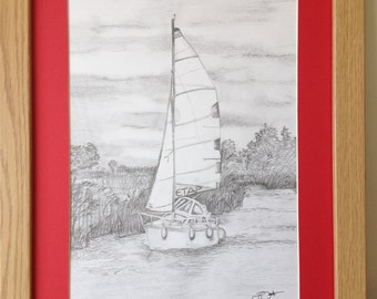 Sailing Boat, Limited Edition Print