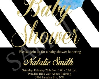 Baby Shower Invitation - DIY Digital File