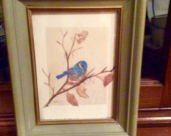 Blue Bird Print, 1982 Arthur A. Kaplan Co. NYC LithoUSA, J. Norton Artist