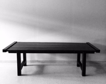 8-10 person modern Harvest Table black