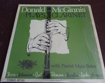 Donald McGinnis Plays Clarinet LP Record Coronet Stereo # 1705