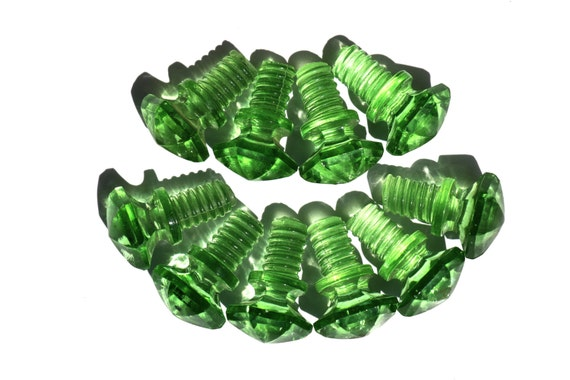 Green Glass Cabinet Knobs And Drawer Pulls: Vintage Hoosier Pulls/Green Glass Drawer By AmericanAntique