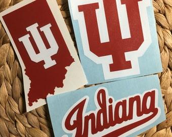 Indiana University Vinyl Decals