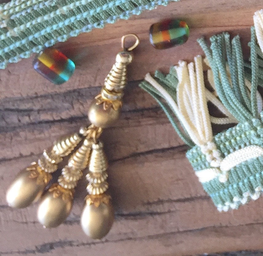 Gold beaded tassels jewelry making supplies metal beads for Craft and jewelry supplies