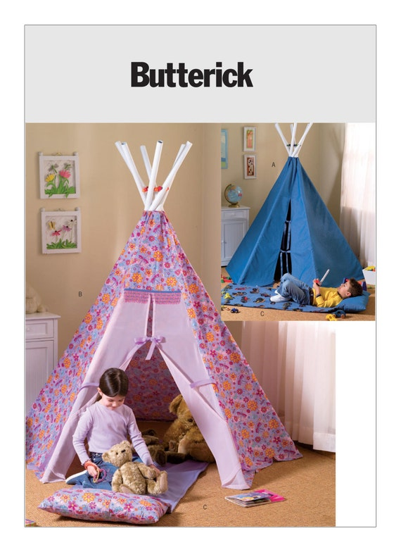 patron de couture pour enfant tipi tente et tapis de sommeil. Black Bedroom Furniture Sets. Home Design Ideas