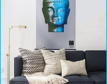 Kakémono Poster, Buddha Poster, Buddha Art, Ethnic Art, Buddha Home Decor,
