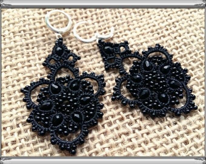 Earrings Black Viola