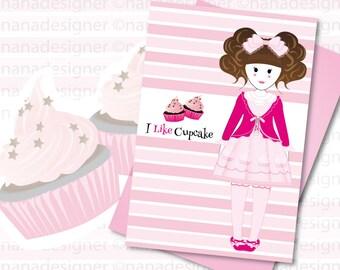 I Like cupcake card