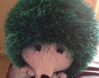 Hand knitted hedgehog