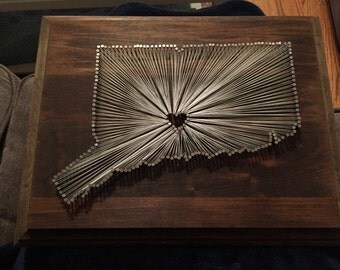 Customized State Nail & String Art
