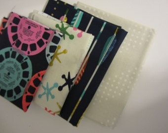 Two Fat Quarters and Two Fat Eighth/ Quilters Cotton Bundle/ Fabric Destash