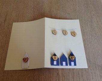 The Blue Beach Hut Card