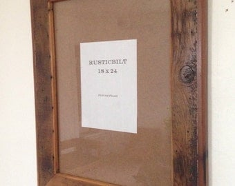 Large Reclaimed Wood Frame - Frame - Barn Wood Frame - Country Decor - 18 x 24 - Wedding Gift - Ready To Ship