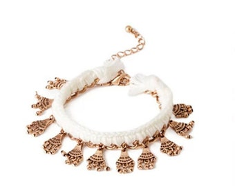 Etched  Cord Bracelet