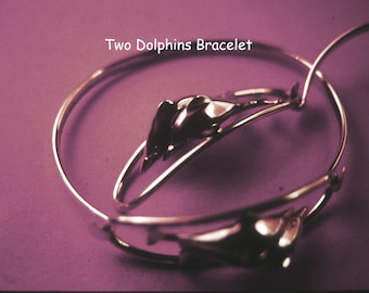 Two Dolphins Bracelet in sterling silver