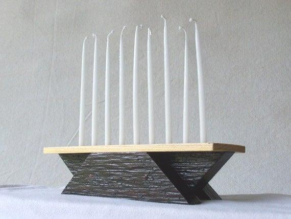 Menorah Hanukkah Candle Chanukah Candle Modern Menorah