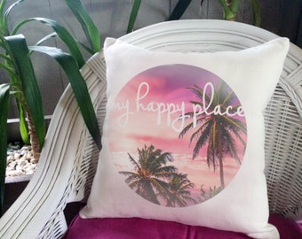 My Happy Place Cushion Cover