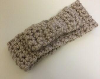 crochet, infant/todler chunky yarn headband