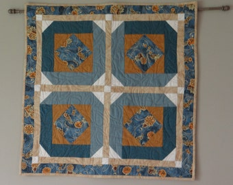 table topper, wall hanging, quilted table topper