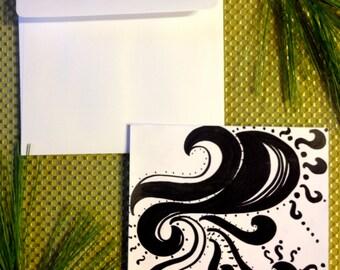 Uniquely Drawn Blank Card