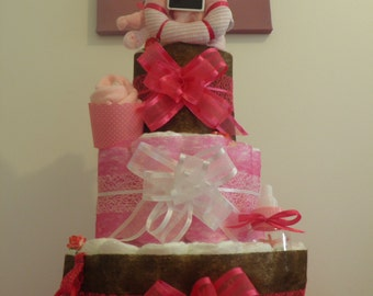 beautiful diaper cake Pink for girl