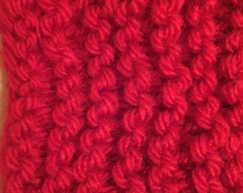 Knitting is life Red Scarf