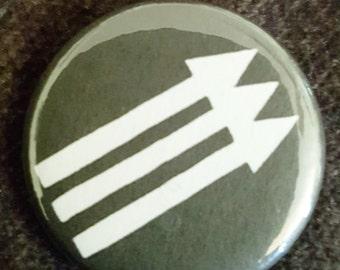 Anti-fascist symbol button