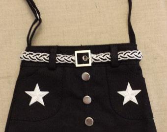 Black Skirt Purse - Stars and Skull/Crossbones