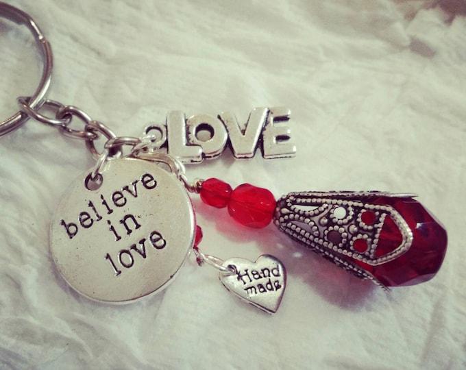 """Believe in Love"" Love Keychain"