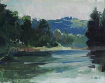 "Original Oil Painting 6""x8"" Oregon, Portland, Plein Air, Landscape,impressionist, traditional representational fine art"